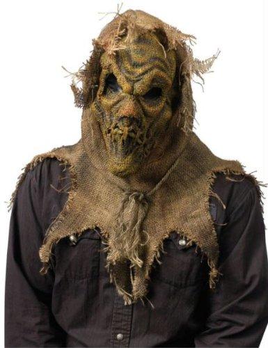 Scarecrow Maske Natural Halloween Kostueme Maske Gesicht Maske Over-the-Head-Maske Kostuem Stuetze Scary Creepy Schreckliche Maske Latex Maske fuer Maskerade Make-up Party