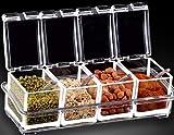 Gewürz Box Gewürze Aufbewahrungsbox Servierlöffel enthalten attraktives Langlebig Kunststoff Gourmet
