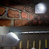 Babz 10 LED Motion PIR Cordless Sensor Light Indoor Outdoor Garden Patio Wall Shed