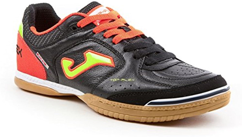 Joma Top Flex Herren Hallenschuhe schwarz orange gelb Futsal Schuhe NEU