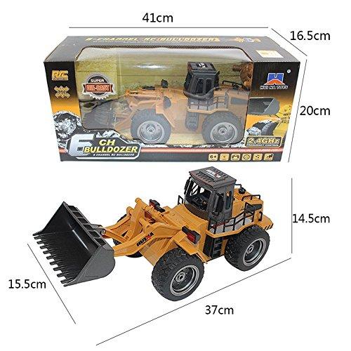 RC Auto kaufen Baufahrzeug Bild 4: s-idee® 18146 S1520 Rc Radlader Bagger 1:18 mit 2,4 GHz schwenkbare Schaufel Huina 1520*