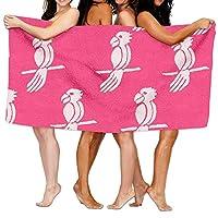 544456ffde Pink Bird Beach Towels Ultra Absorbent Microfiber Bath Towel Picnic Mat For Men Women Kids