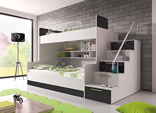 bunk-bed-tala-with-mattresses-for-2-children-functional-design-high-gloss-inserts-white-with-black-d