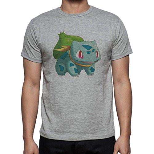 Pokemon Bulbasaur First Generation Scarf Herren T-Shirt Grau