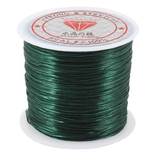Water & Wood Dark Green Elastic Stretch Crystal String Line Cord Spool Scroll 120M 393.7 Ft