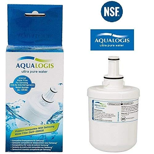 Aqualogis AL-093G Refrigerator Water Filter Fully Compatible with Samsung DA29-00003G HAFIN2 EXP