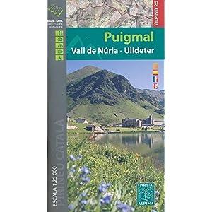 Puigmal-Vall de Nuria-Ulldeter, mapa excursionista. Escala 1:25.000. Editorial Alpina. (Mapa Y Guia Excursionista)