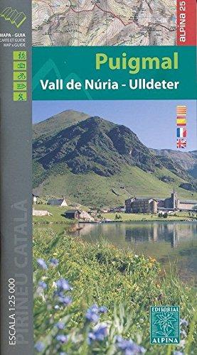 Puigmal-Vall de Nuria-Ulldeter, mapa excursionista. Escala 1:25.000. Editorial Alpina. (Mapa Y Guia Excursionista) por VV.AA.