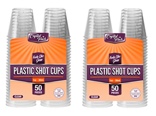 Transparenter Kunststoff, Einweg-Schnapsgläser 30 ml - 1 oz. plastik, 100 Pcs