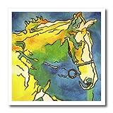 3drose HT _ 46773_ 3Pferd und Zaumzeug Trense, Reitsport, Reiten, Halfter Eisen auf Wärmeübertragung für weiß Material, 10von 25,4cm