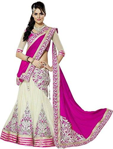 Om Silk Mills Women's Georgette Saree (OSM0025_Pink)