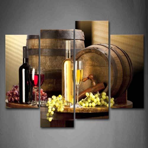 vario Vino Con Uva Pittura di arte della parete La stampa su tela di canapa Cibo Quadri d'illustrazione per l'ufficio domestico Decorazione moderna