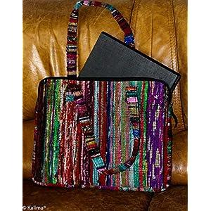 Laptop Tasche, handgewebt mehrfarbig