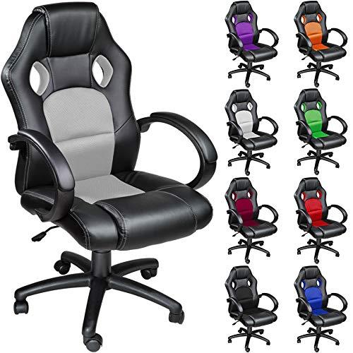 TecTake Chaise fauteuil siège de bureau hauteur réglable sportive - diverses couleurs au choix -...