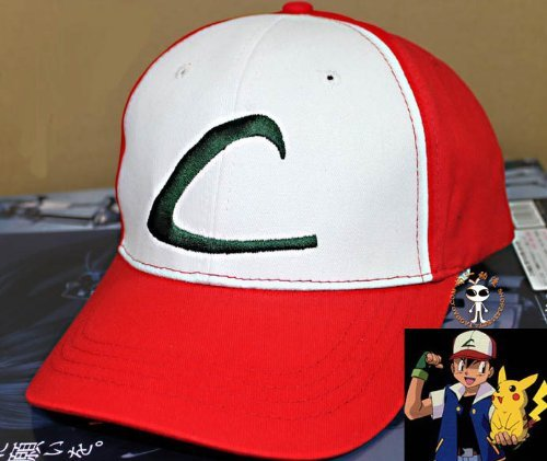 Kostüm Pokemon Ash Jacke - Cosplay accessory Pokemon Best Wishes Satoshi baseball cap hat sun protection hat cosplay tool (japan import)
