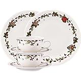 Hutschenreuther 02460-725492-28364 - Platos para dulces de Navidad y tazas (porcelana, 6 piezas)