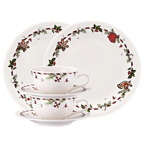flirt geschirr weihnachten Hutschenreuther 02460-725492-28364 Weihnachtsleckereien Porzellan-Set, 6-teilig