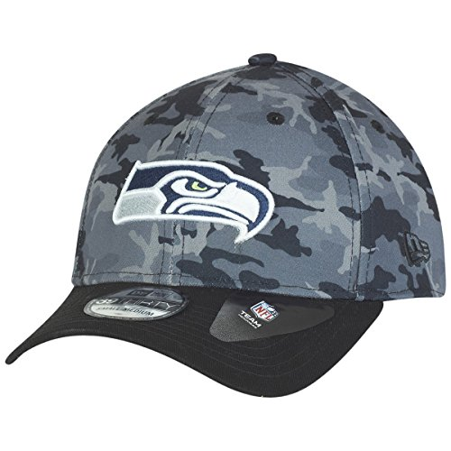 New Era Herren Caps / Flexfitted Cap Camo Team Stretch Seattle Seahawks 39Thirty camouflage L/XL (Fit Hut Flex Camo)