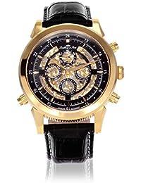 Lindberg & Sons Herren-reloj analógico de pulsera automático de cuero SK14H015