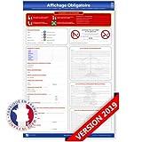 Affichage obligatoire panneau unique (conforme droit du travail) - Plastifié et effaçable - Édition 2019 - Fabriqué en France