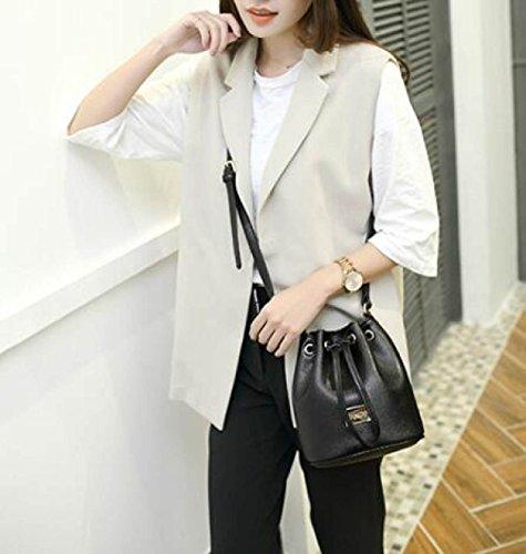 ... Borsa Da Donna Elegante Borsa A Tracolla Moda Borsa A Tracolla Messenger  Bag Ladies Mini Secchiello f4a2a499163