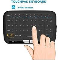 Mitid Mini Combo de ratón touchpad remoto Teclado inalámbrico de 2,4 GHz para Android TV Box, caja de Google TV, IPTV, Smart TV y Más …