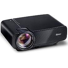 Mini Proiettore, RAGU Z400 Video Proiettore Portatile Home Theater Entertainment Theater Supporto Di Risoluzione 1080P PC Portatile PS4 XBOX e Scatola Android TV, Nero