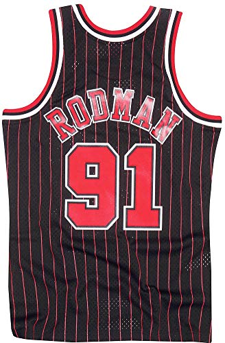 Mitchell & Ness Swingman Jersey Chicago Bulls Dennis Rodman 91 Black/Red XL