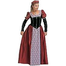 Widman - Disfraz de realeza medieval para mujer, talla S (S/35481)