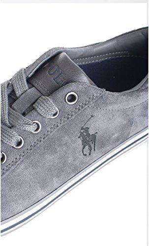 Polo Ralph Lauren scarpe sneakers uomo camoscio nuove grigio Grigio