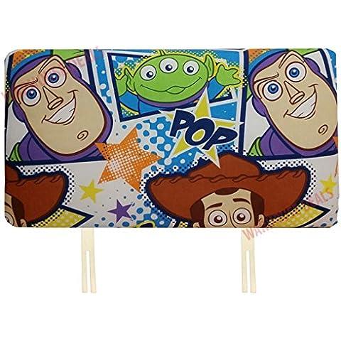 K Co Headboards - Testiera per letto singolo, motivo con personaggi della Disney o emblema delle squadre di calcio, ideale per dare un tocco di vivacità alla cameretta dei bambini, Toy Story, letto singolo