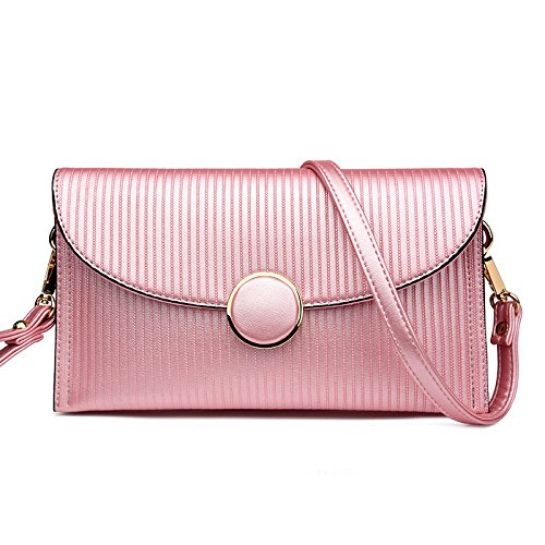 Mefly Spalla Mano Messenger Bag Lady Borsa Multifunzionale Goffrato Claret Pink