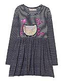 Desigual Mädchen Kleid Vest_MOGADISCIO, Blau (Navy 5000), 128 (Herstellergröße: 7/8)