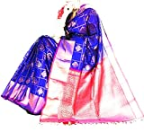 Uppada Silk Sarees Pure Silk Saree (Up-124_Blue And Pink Color_)