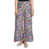 #9: Black Collection Regular Fit Women's Multicolor Plazzo
