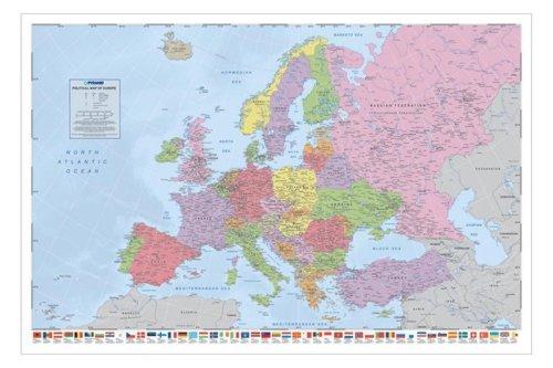 1art1 Empire 330529 - Póster de Mapa de Europa 91
