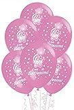 Palloncini Battesimo Rosa addobbi e decorazioni per feste confezione 25pz