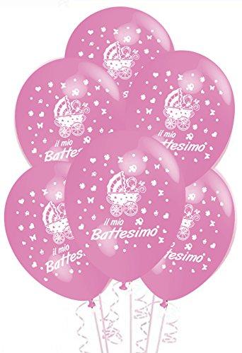 Palloncini-Battesimo-Rosa-addobbi-e-decorazioni-per-feste-confezione-25pz