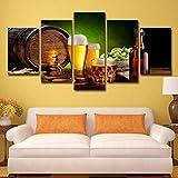 zysymx Bodega nórdica decoración de la habitación del Hotel 5 barriles de Cerveza lúpulo Malta casa Pintura Cerveza Jarra Cartel