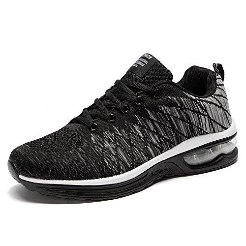 BRKVALIT Unisex Scarpe da Corsa Scarpe da Ginnastica Sneakers Sportive Fitness Gym Basse Interior Casual allAperto Scarpe da Basket Nero