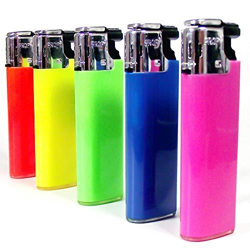 Dipse Sturmfeuerzeug | Feuerzeug | Trendy | Color Flames 5 Stück gemischt - farbige Flammenfarbe | nachfüllbar