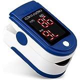 Saturimetro da Dito Ossimetro Professionale Pulsossimetro da Dito Monitor di Saturazione di Ossigeno nel Sangue (SpO2) con PR