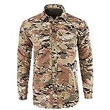 Xmiral Shirt Hemd Herren Schnelltrocknendes Lässiges Langarm T-Shirt mit Farbmuster für Das Militär Sweatshirt Hemden Polohemd Tanktop(b Tarnung,XXL)
