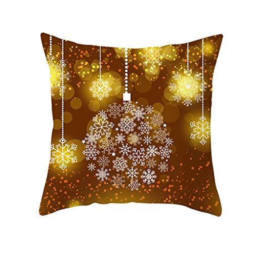 LILIHOT Kissenbezug Merry Christmas Decoration Sofa Cover Bettwäsche Weihnachten Deko Kissen Weihnachten Kissenbezug Glitter Polyester Sofa Dekokissen Cover Home Decor