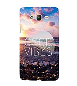 Good Vibes 3D Hard Polycarbonate Designer Back Case Cover for Samsung Galaxy On7 G600FY :: Samsung Galaxy On 7 (2015)