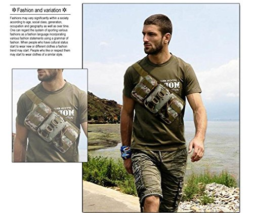 Triple-Taschen Outdoor-Sporttasche Multifunktions-Kessel Beutel Jogging Tarnung Tragbares Paket 6