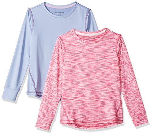 Amazon Essentials Girl's 2-Pack Long-Sleeve Active Tee