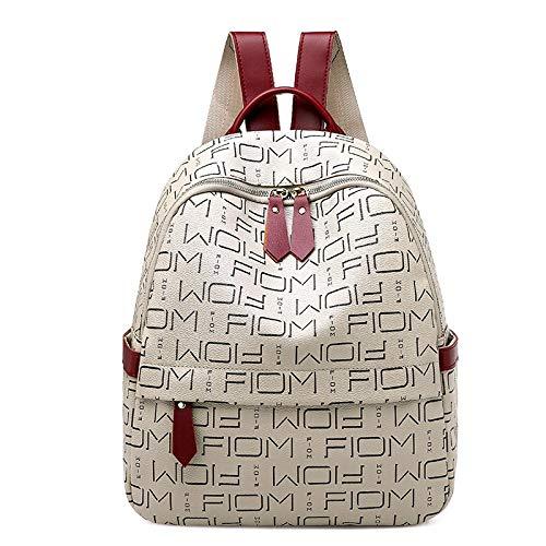 SDFIUH Rucksack weibliche Wilde Mode aus weichem Leder Damen Reisetasche mit großer Kapazität Schultasche (Color : Carnation, Size : One Size) -