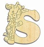 Farbklecks Collection Holzbuchstabe Giraffe S - 10cm Höhe - Buchstabentiere - Holzbuchstaben - Holz-Buchstabe