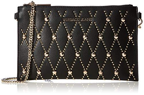 Versace Jeans Couture Damen Wallet Portemonnaie, Schwarz (Nero), 1x16x25,5 Centimeters